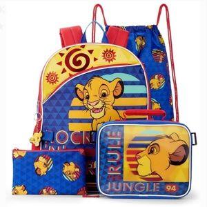 #553 New Set Disney Lion King 5 Backpack Lunch Bag